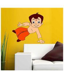 Chhota Bheem Jumping Wall Decal - Multicolour