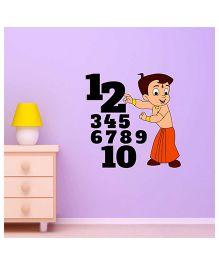 Chhota Bheem Numeric Decal Multi Color - Medium