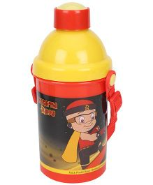 Mighty Raju Sipper Water Bottle - Red And Yellow
