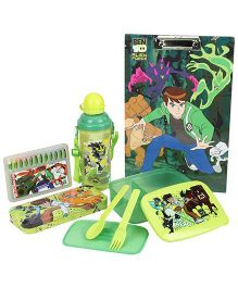Ben 10 School Kit Green And Black - Pack Of 5