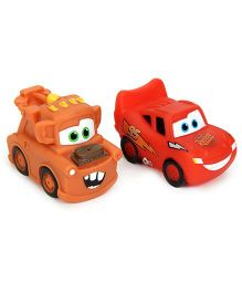 Simba Disney Pixar Cars Water Squirt Toy Pack Of 2 - Red Orange