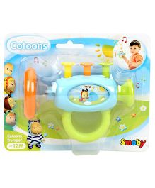Smoby Cotoons Trumpet - Sky Blue and Multicolour