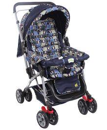 My First Baby Baby Stroller Cum Pram Navy Blue - 20101 A