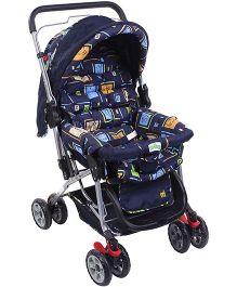 My First Baby Baby Stroller Cum Pram Navy Blue - 20101 B