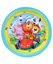 Riethmuller Paper Plates Animals Print - 8 Pieces