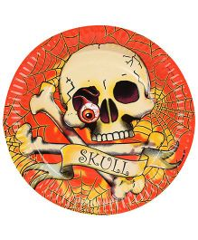 Riethmuller Paper Plates Skull Print - 8 Pieces