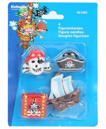 Riethmuller Pirates Theme Candles - Pack Of 4