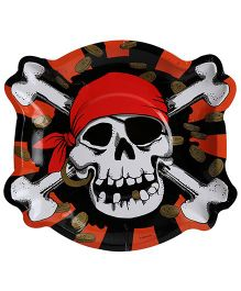 Riethmuller Paper Plates Jolly Roger Print - 8 Pieces