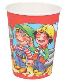 Riethmuller Party Cups Workers Print - 8 Pieces