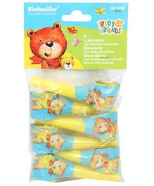 Riethmuller Blowout Horns Teddy Print - 6 Pieces