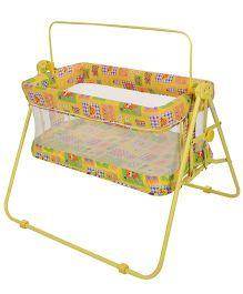 Mothertouch Combi Cradle Bear Print  Yellow - COCY