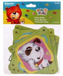 Riethmuller Teddy & Friends Party Banner - Multi Color