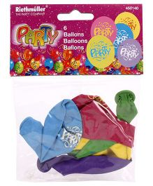 Riethmuller Party Balloons Multi Color - Pack Of 6