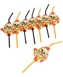 Riethmuller Skull Party Straws -  Set of  8 Pieces