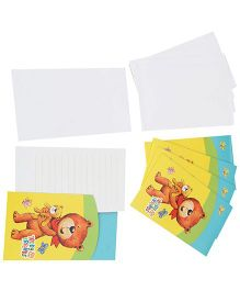 Riethmuller Invitation Card Teddy & Friends  - 6 Cards