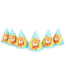 Riethmuller Teddy & Friends Design Party Hats - 6 Pieces