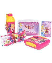 Disney Princess School Kit Set Of 5 - Pink