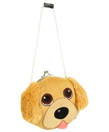 Wild Republic Clasp Purse Golden Retriever Puppy Shape - Golden