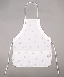 Grandma's Kids Apron Polka Dots - White And Purple