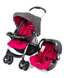 Graco Candy Rock Travel System - Red