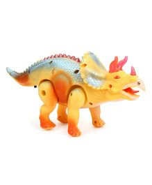 Smiles Creation Battery Operated Dinosaur - Yellow And Blue