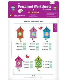 My Preschool Worksheets Programme Telling Time - English