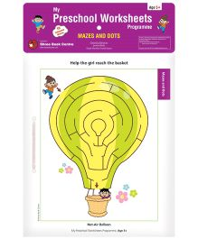 My Preschool Worksheets Programme Mazes and Dots - English