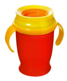 Lovi 360 Cup With Handles Junior Red - 250 ml
