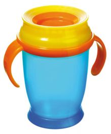 Lovi 360 Cup With Handles Junior Blue - 250 ml