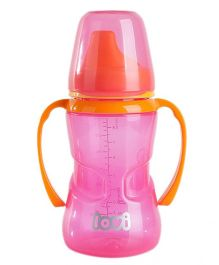 Lovi Non Spill Firm Spout Cup Pink - 250 ml