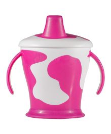 Lovi Cow Cup With Handles Pink - 250 ml