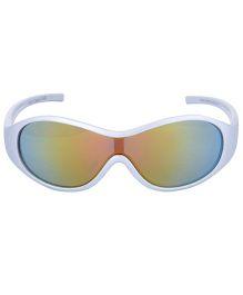 Racer Kids White Sunglasses