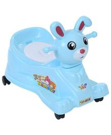 Musical Baby Potty Chair Bunny Face - Sky Blue