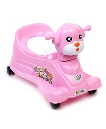 Musical Baby Potty Chair With Wheels Doggy Design - Pink