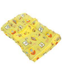 Mee Mee Mattress Teddy Print - Yellow