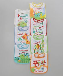 Mee Mee Bibs Multiprints Set Of 7 - Multicolour