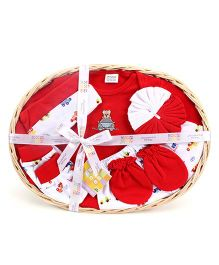 Mee Mee 7 Pieces Baby Gift Set - Dark Red