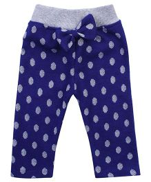 Little Kangaroos Full Length Leggings With Bow - Royal Blue