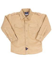 Little Kangaroos Full Sleeves Plain Shirt - Beige