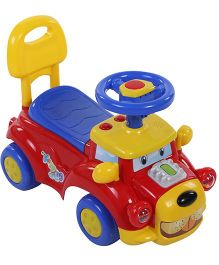 Shadilal Musical Loco Manual Push Ride On - Red Blue