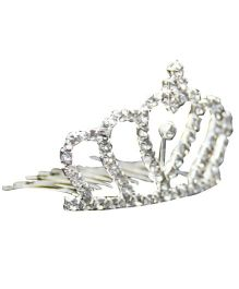 Little Cuddle Crystal Tiara haircrown - Silver