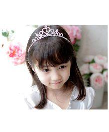 Little Cuddle Crystal Tiara Girls Hairband - Silver