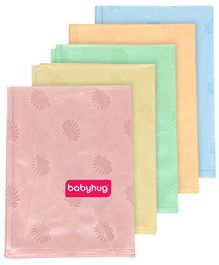 Babyhug Pearl Finish Plastic Bed Protector Sheet Small - Set of 5