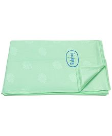 Babyhug Pearl Finish Plastic Bed Protector Sheet Extra Large - Green