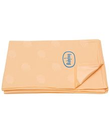 Babyhug Pearl Finish Plastic Bed Protector Sheet Extra Large - Peach