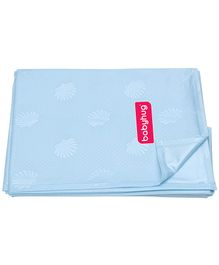 Babyhug Pearl Finish Plastic Bed Protector Sheet XXL - Sky Blue