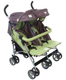 Mee Mee Twin Stroller Green - MM-8377