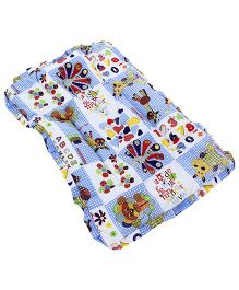 Mee Mee Mattress Multiprint - Blue And White