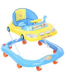 Mee Mee Musical Baby Walker Car Design Blue - MM-W 3019