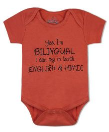 Acute Angle Bilingual Orange Onesie